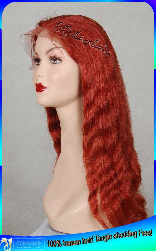 Color 35 Human Hair Full Lace Wig Custom Wig Products Qingdao
