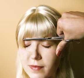 Cut bangs for wig