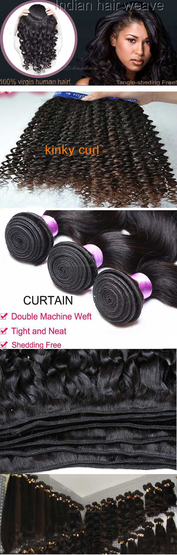 kinky curl hair weaves