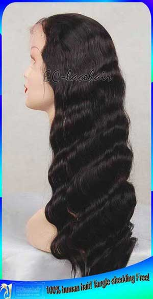 Indian Virgin Body Wave Full Lace Human Hair Wigs Wholesale Price