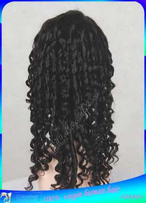 Indian Spiral Curl full Lace Wigs Human Hair
