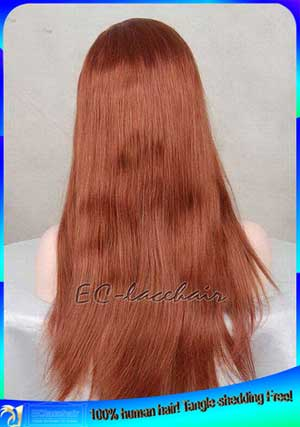Indian Remy Color 33 Human Hair Full Lace Wigs Wholesale Factory Price Bleached Knots