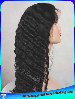 Indian Remy Water Wave Human Hair Full Lace Wig Factory Price