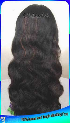 Indian Remy Human Hair Full Lace Wigs with Highlights Wholesaler