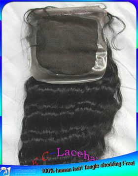 Indian hair PU Thin Skin Top Lace Closures