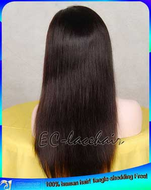 Indian Straight Human Hair Full Lace Wigs Wholesale Supplier-Tangle-Shedding Free