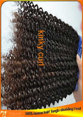 Best Kinky Curl Indian Virgin Human Hair Weaves Factory Price