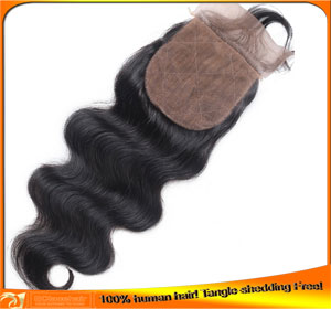 Cheap Virgin Brazilian Hair Body Wave Silk Base Top Lace Closures Wholesaler