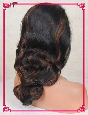 Wholesale -b with -- Highlight Synthetic Front Lace Wigs