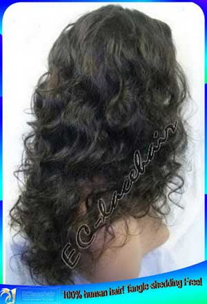 Indian Loose Curl Full Lace Wig Human Hair Wholesale Price for Black Women