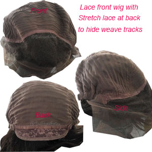 Cap-- Glueless Lace Front Wig