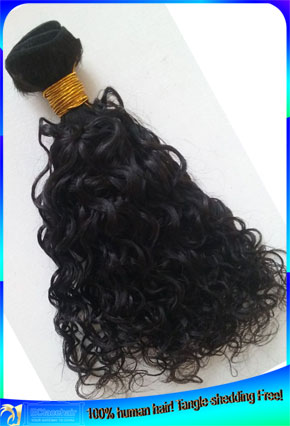 Cheap Deep Curl Brazilian Human Hair Weaves Factory Price