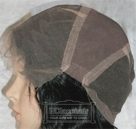 Cap-- Stretch Lace from Ear to Ear
