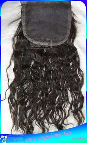Indian Loose Curly Hair Lace Closures Supplier