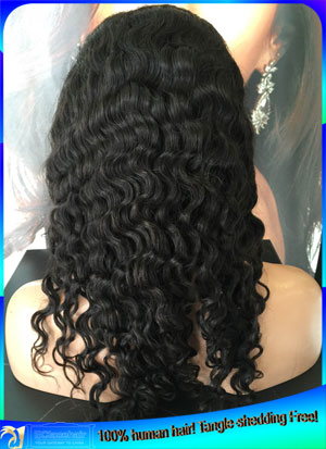 Indian Remy Deep Wave Human Hair Full Lace Wigs Factory Price