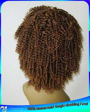 Indian Virgin Spiral Curl Lace Front Wig Bleached Knots