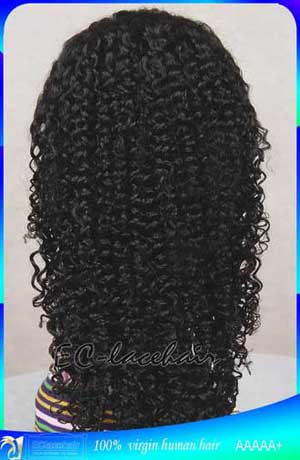 Genuine Indian Remy Jerry Curl Human Hair Full Lace Wigs