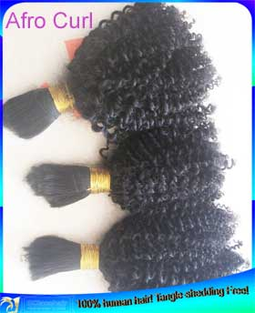 Wholesale Afro Curl Virgin Brazilian Human Hair Weave Weft Extensions