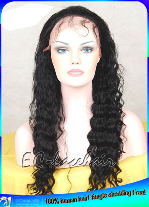 Wholesale Water Wave Human Hair Lace Front Wigs Factory Price Supplier