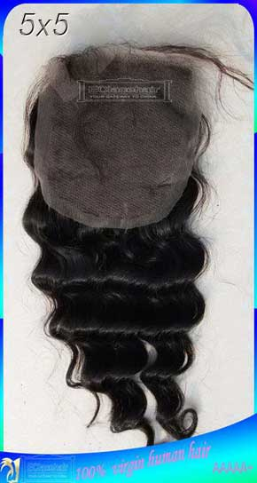 Deep Wave Brazilian Human Hair Top Lace Closures Manufacturer