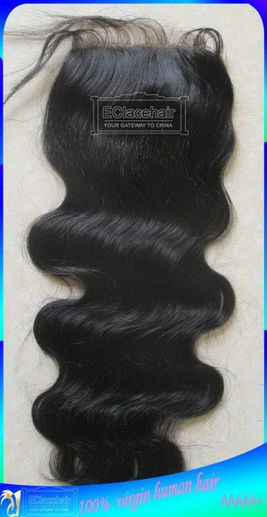Body Wave Virgin Brazilian Hair Lace Top Closures Wholesale Price