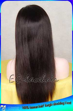 Indian Virgin Light Yaki Straight Full Lace Human Hair Wig for African Americans Seller