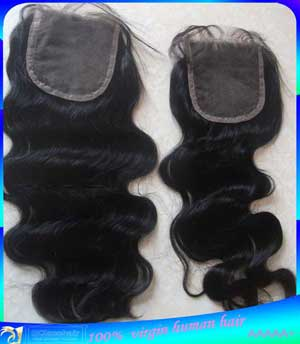 Body Wave Virgin Brazilian Top closure,3 Parts,Middle,Free Part