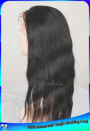 Indian Virgin Natural Straight Human Hair Lace Front Wigs Wholesale