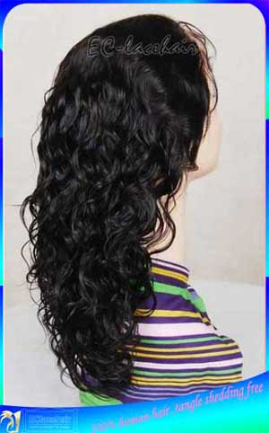 Indian Deep Curl Stocked Full Lace Wig Human Hair Wholesale Price Distributor