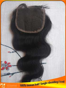 Cheap Body Wave Indian Human Hair Lace Closure Wholesale Price