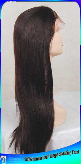 Wholesale Cheap --- Indian Human Hair Full Lace Wigs with Babyhair or Add Bangs Bleached Knots