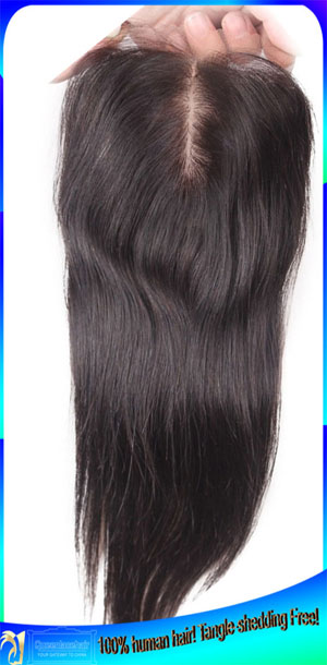 Free Shipping Straight Indian Virgin Hair Lace Closures Wholesale Price