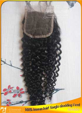 Wholesale Indian Human Hair Afro kinky Curly Cheap Lace Top Closures Factory Price