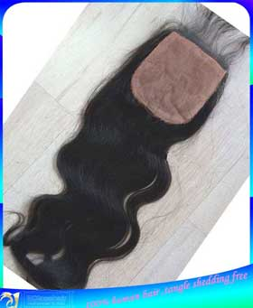 Indian Virgin Human Hair Body Wave Silk Base Top lace Closure Hidden Knots Wholesale Price