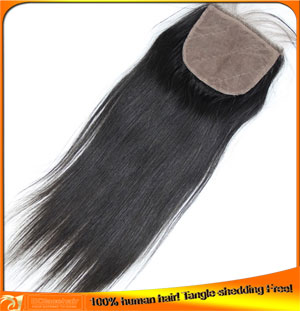 Wholesale Price Indian Remy Human Hair Silk Base Lace Closure Invisible Knots