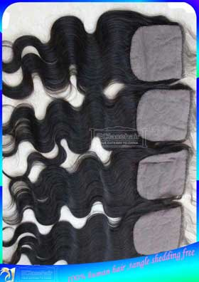 Wholesale Indian Hair Silk Based Lace Closure Body Wave-Factory Price Supplier