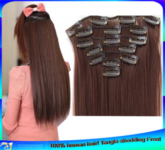 Indian Sew in Clip in Human Hair Extensions