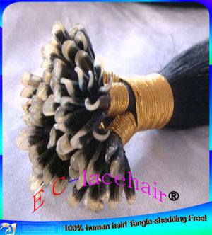 Indian Human Pre-bonded Hair Extensions Factory Price